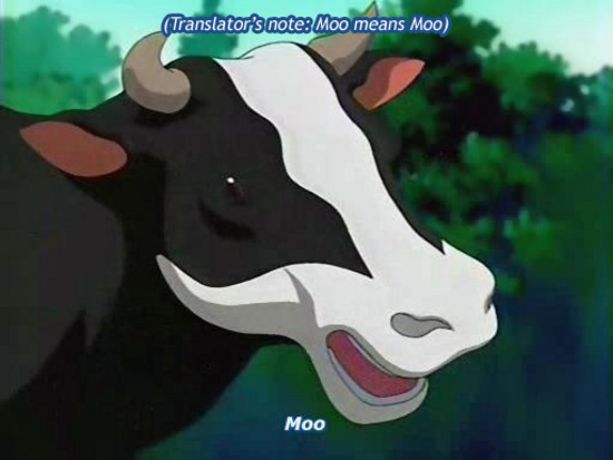Moo means moo