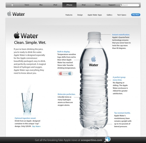 If Apple Made Water