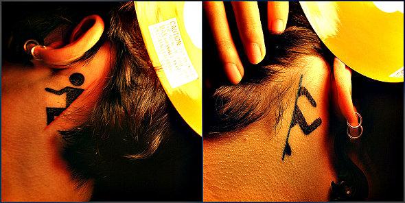 Portal Neck Tattoo