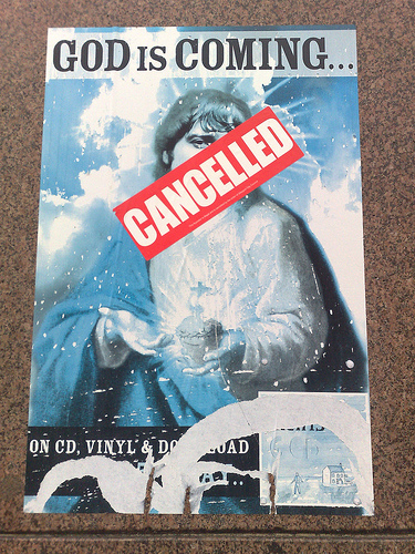 God's world tour canceled.