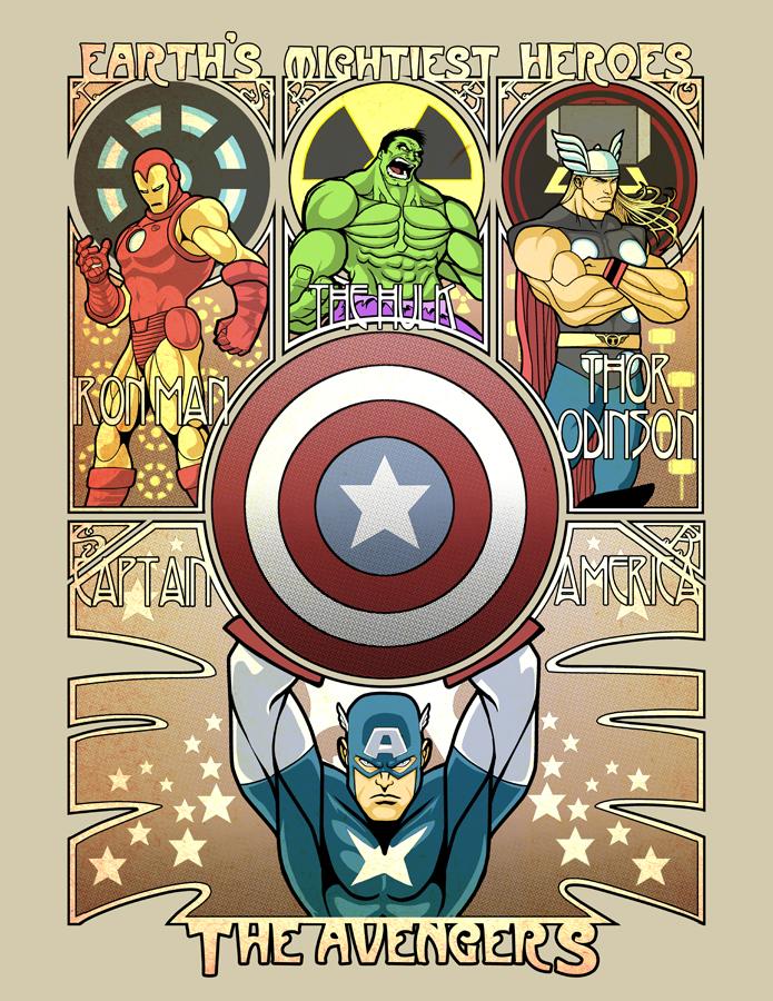 The Avengers: Assembled for Art Nouveau!