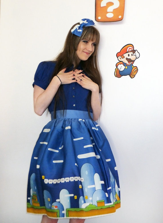 Nintendo Lolita Skirt- Custom fabric, custom made