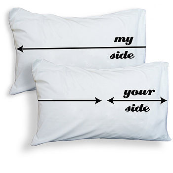 'My Side, Your Side' Pillowcases