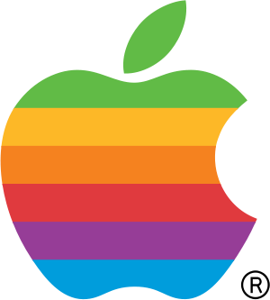 English: The logo for Apple Computer, now Appl...