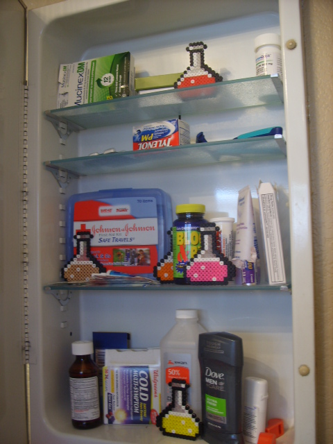 Medicine CabinetTime to do some cleaning! I don't know what half the stuff is in my Medicine Cabinet. Questionable bottles and stuff that didn't really work. Sad excuse for a medicine cabinet really…Time to get cleaning!