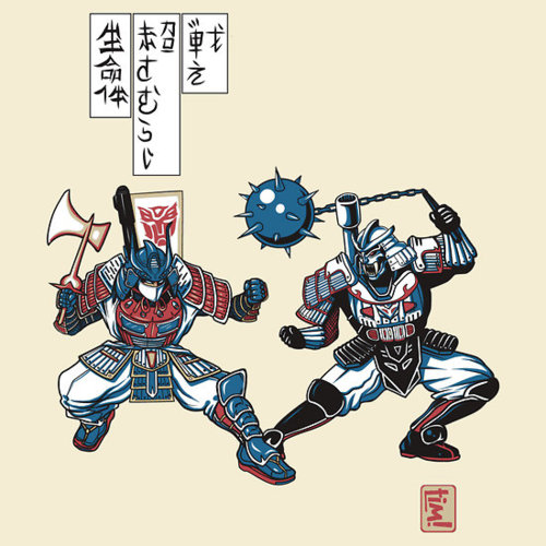 Tatakae Chou Samurai Seimeitai! by ninjaink<br /><br /><br /> USD$28.28</p><br /><br /> <p>&#8220;Tatakae Chou Samurai Seimeitai&#8221; is a ukiyo-e wood block print from around the Sengoku era. This particular design tells a warrior's tale of an epic battle between good and evil, one that carries over into the modern day. Though this appears to be a typical feud between opposing samurai, there is more to this print than meets the eye.</p><br /><br /> <p>Follow the artist on Tumblr