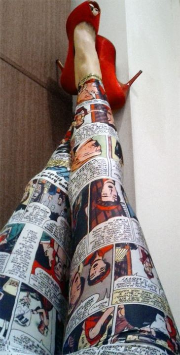 Sew It Like You Mean It Dress Comic Strip Dress + Comic Strip Leggings