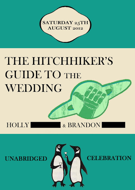 Hitchhiker's Guide to the Galaxy Wedding Invites