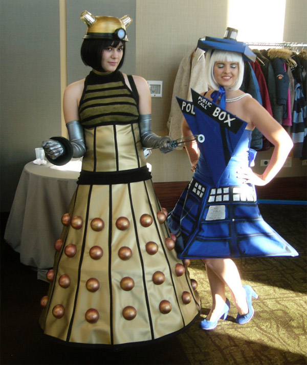 Doctor Who Dalek and Tardis Dresses