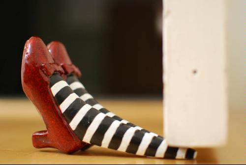 Wicked Witch Of The East Ruby Slippers Door Stop Www