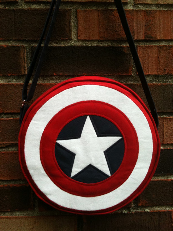 Captain America, shield round bag, purse with adjustable strap, costume, cosplay, Marvel comics