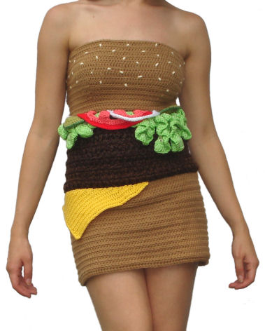 Hamburger Dress Front