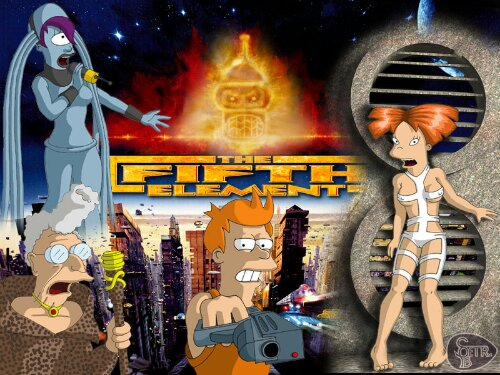 Fifth Element/Futurama Fan Art