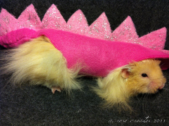 Pretty Princess Dinosaur Costume for Hamster (Syrian) Limited Edition