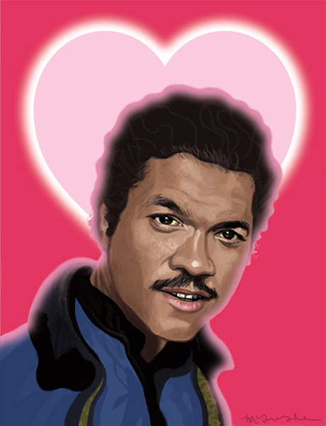 STAR WARS Valentine's Day Card featuring Lando Calrissian