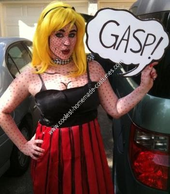 Homemade Lichtenstein Comic Book Pop Art Costume