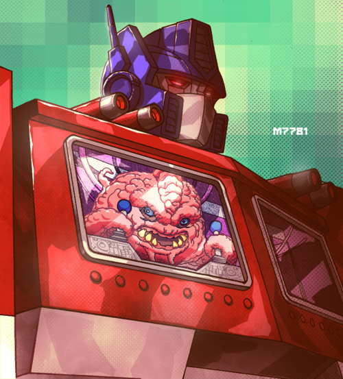 Krang has a new robot to boss around in Marco  D'Alfonso's Teenage Mutant Ninja Turtles / Transformers remix. Crazy wad of gum! Related Rampages: Mega Mario | Downside of a Batcave (More) Optimus Prime x Krang by Marco  D'Alfonso (Tumblr) (deviantART) (Twitter) Via: hello-zombie