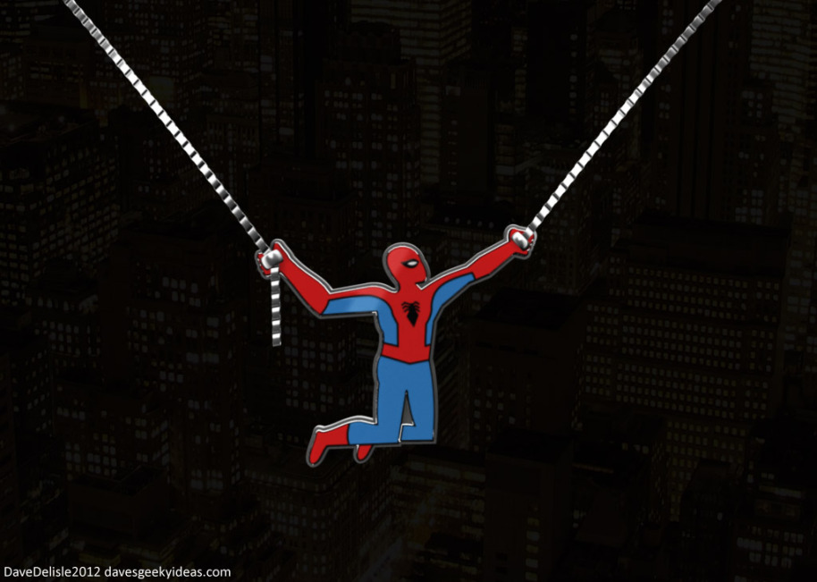 Spider-Man Necklace Design 2012 davesgeekyideas.com Geek Bling Dave Delisle