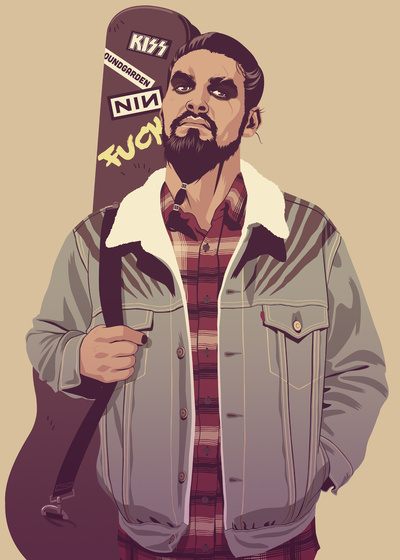 GAME OF THRONES 80/90s ERA CHARACTERS - Khal Drogo Art Print