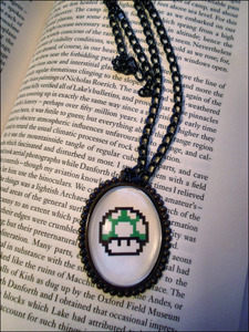 Image of Mario 1UP Mushroom Necklace