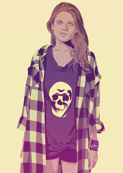 GAME OF THRONES 80/90s ERA CHARACTERS - Ygritte Art Print